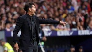 El Cholo dirigió al Atlético con energía