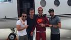 Cristiano Ronaldo, con sus amigos y el avión privado