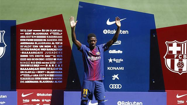 Dembélé, presentado como nuevo jugador del FC Barcelona