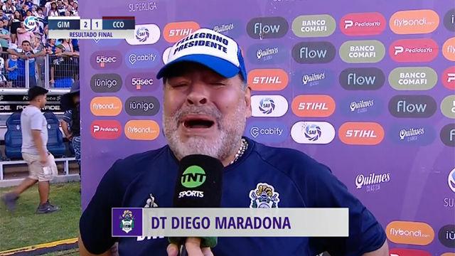 El desgarrador discurso triunfal de Maradona