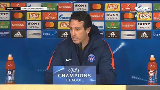 Emery ofreció la rueda de prensa previa al partido contra el Real Madrid