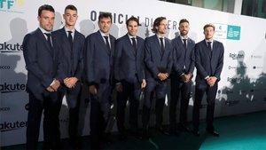 El equipo español de Copa Davis, al completo