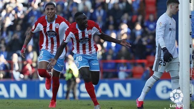El Hacen dio la victoria al Lugo frente al Oviedo