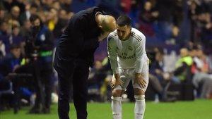 Hazard se lesionó en el partido contra el Levante