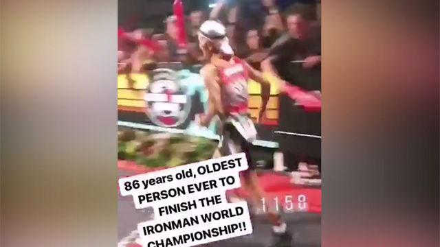 ¡Histórico! Con 86 años, es el hombre más mayor del mundo en terminar un Ironman