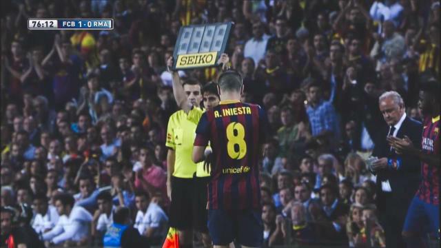 Iniesta, el jugador más ovacionado
