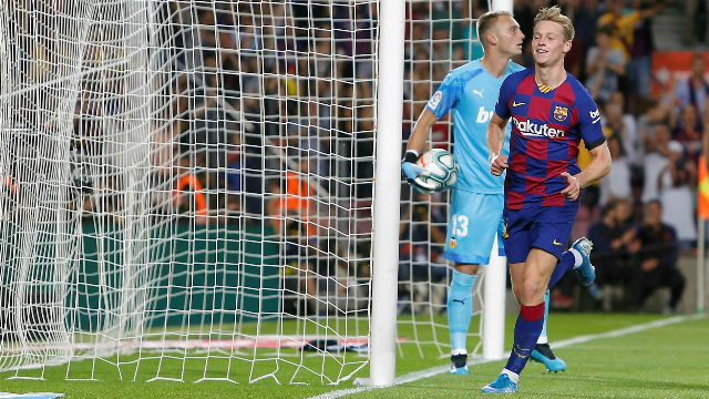 De Jong marcó su primer gol como azulgrana