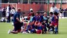Josep Gombau fue su primer entrenador en el Benjamín B del Barcelona