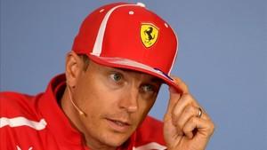 Kimi Raikkonen, en la rueda de prensa de esta jueves