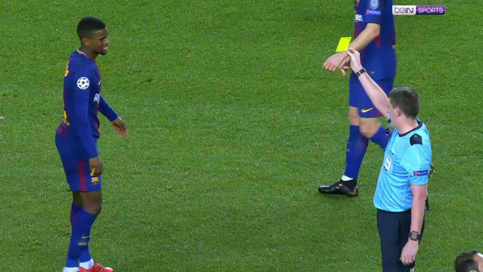 LACHAMPIONS | FC Barcelona - Sporting (2-0): Semedo vio amarilla contra el Sporting