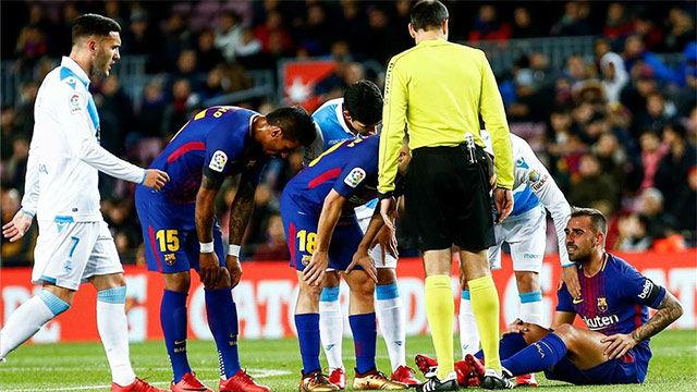 LALIGA | Barça - Deportivo (4-0): La lesión de Alcácer