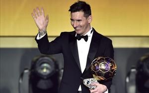 Lionel Messi consiguió su quinto Balón de Oro en el año 2015