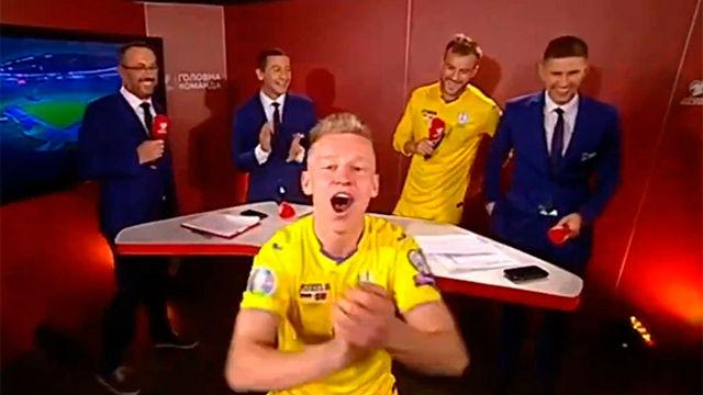 La loca celebración de Zinchenko tras clasificarse Ucrania para la Eurocopa