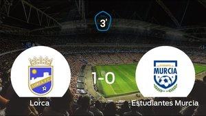 El Lorca derrota 1-0 al Estudiantes Murcia en el Francisco Artés Carrasco