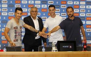 Los dos nuevos jugadores del Espanyol apuntan alto