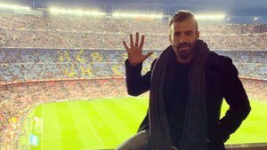 Marc Crosas en el Camp Nou