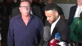 Neymar reafirma su inocencia tras comparecer ante la justicia por una demanda de violación