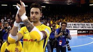 Paco Sedano es el primer azulgrana de fútbol sala con la camiseta retirada