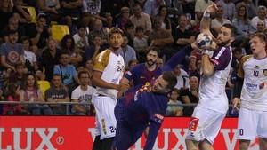 En el Palau el Barça se impuso al Nantes pero los galos dieron guerra