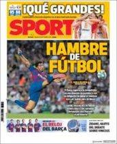 La portada del Sport del 14 de septiembre de 2019