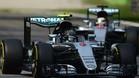 Rosberg y Hamilton en Monza