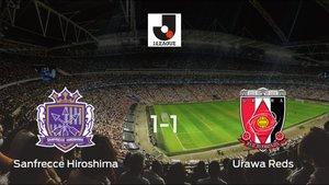 El Sanfrecce Hiroshima y el Urawa Reds firman las tablas tras empatar a uno