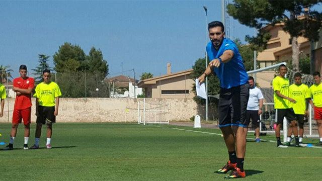 Tremenda bronca de Eder Sarabia, futuro segundo entrenador del Barça, en un entreno de Las Palmas