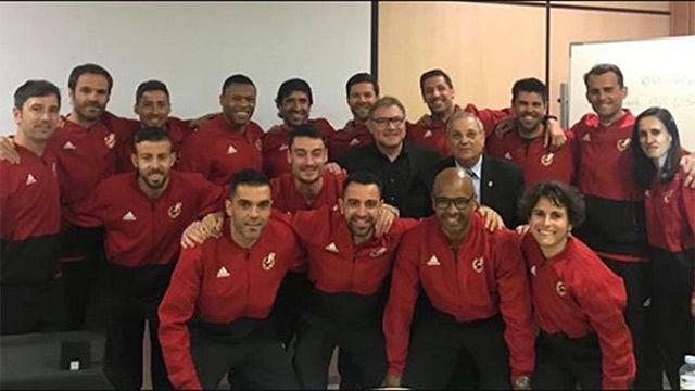 Xavi y Valdés, en el curso de entrenadores