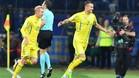 Yarmolenko, celebrando uno de sus dos goles