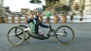 Zanardi llevaba muchos años participando en pruebas con su handbike
