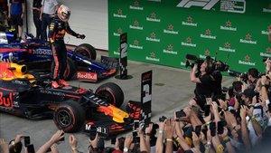 Verstappen celebró la victoria