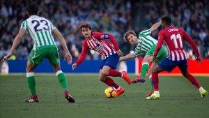 Antoine Griezmann no vio puerta ante el Betis