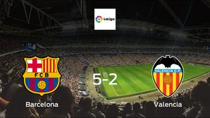 Barcelona score 5 in win against Valencia with a 5-2 at Camp Nou