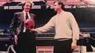 César Luis Menotti y Johan Cruyff, en una imagen tomada en el Camp Nou