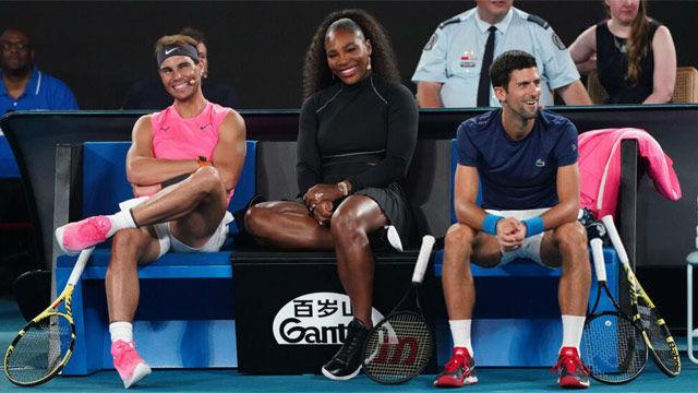La cómica lección de Nadal y Djokovic a la Next Gen