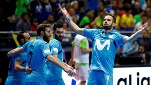 El cordobés Solano empató el partido a tres minutos del descanso