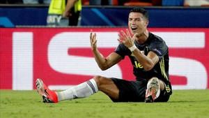 Cristiano dejó a su equipo con diez durante una hora