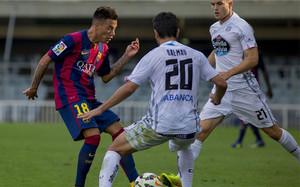 Dalmau jugando con el Lugo ante el filial del Barça