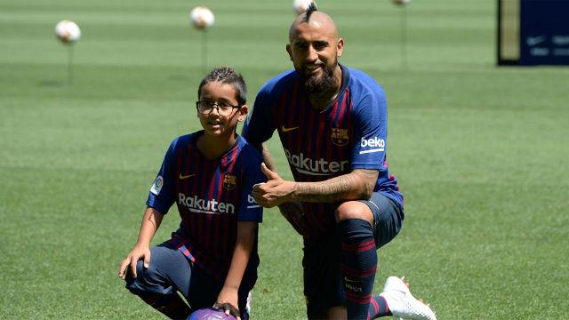 La emotiva relación entre el hijo de Arturo Vidal y su fichaje por el FC Barcelona