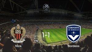 El FC Girondins Bordeos logra un empate a uno frente al OGC Niza