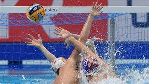Imagen de archivo de un encuentro de la selección española de waterpolo