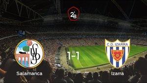 El Izarra saca un punto al Salamanca UDS a domicilio (1-1)