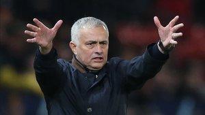 José Mourinho en su etapa en el Manchester United