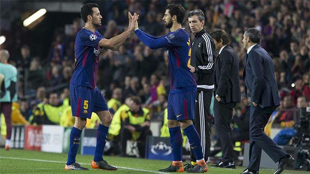 LACHAMPIONS | FC Barcelona - Chelsea (3-0): Busquets abandonó el terreno de juego lesionado