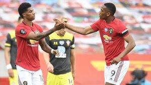 Los goles de Rashford y Martial no alcanzaron esta vez al United