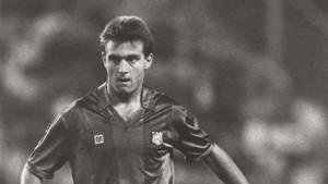 Lucendo jugó con el Barcelona en Valladolid