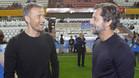 Luis Enrique Martínez y Quique Sánchez Flores en la final de la Supercopa de Catalunya