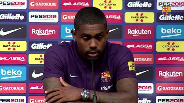 Malcom fue presentado como jugador del FC Barcelona.