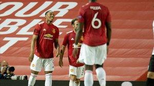 Martial anotó el gol de la victoria