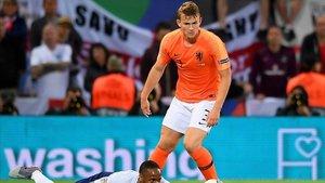 Matthijs de Ligt durante la semifinal de la Liga de Naciones de la UEFA
